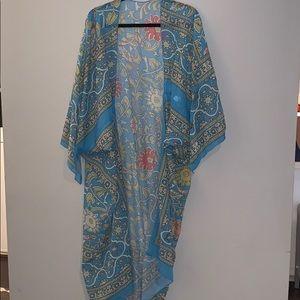 Boho long maxi tunic kaftan top